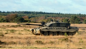 Army Reservists taking part in a Challenger 2 main battle tank training exercise. [Photo by Sgt Russ Nolan; Crown Copyright]