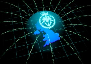 Data are an essential part of MOD and DIO operations. [Logo by Chris Roberts; Crown Copyright]