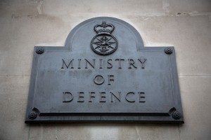 Ministry of Defence sign. [Photo by Harland Quarrington; Crown Copyright]