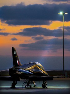 An RAF Hawk training aircraft prior to a training run at RAF Valley. [Cpl Mark Dixon; Crown Copyright]