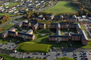 Single Living Accommodation blocks built under Project SLAM at Richmondshire Lines, Catterick Garrison. [Photo by Cpl Ian Forsyth; Crown Copyright/MOD2014]