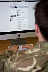 Social media is increasingly important to the MOD. The External Communications team run DIO's social media channels - including this blog! (Photograph by Harland Quarrington; Crown Copyright)
