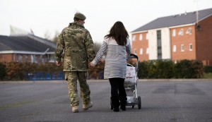 A couple return to married quarters at Tidworth on Salisbury Plain (Sgt Ian Forsythe, Crown Copyright)