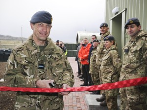 Air Commodore Russell La Forte CBE opening new RAF dog kennels on Falkland Islands (Crown Copyright)