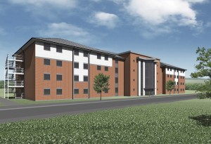 Computer generated image of the design for DTTC Lyneham's new Single Living Accommodation blocks. (Crown Copyright)