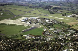 Aerial view of RAF Lyneham, before work began to transform it into DTTC Lyneham. (Crown Copyright)
