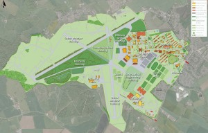 The plan of how DTTC Lyneham will be laid out. (Crown Copyright)
