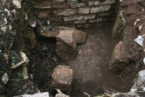 An image of Roman hypocaust (underfloor heating) system at Caerwent (Helen Pickering; Crown Copyright)