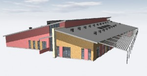 A computer generated image of the plan for one of the new buildings at Beacon Barracks. (Crown Copyright)