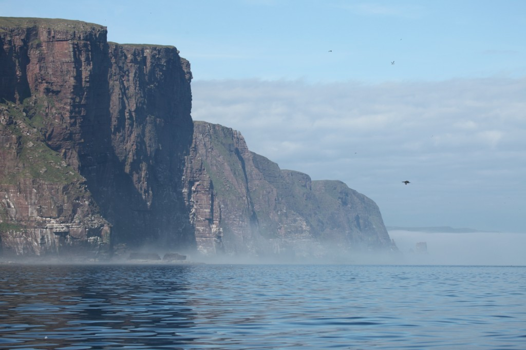 A view of Cape Wrath from the sea. (Crown Copyright)