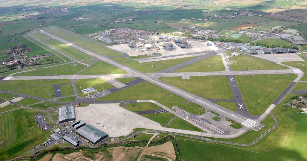 An aerial view of RNAS Yeovilton.