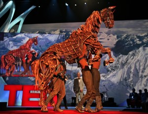 One of the puppets used to portray Joey in the 'War Horse' stage show. (Steve Jurvetson, via Flickr Creative Commons: https://www.flickr.com/photos/jurvetson/5528028802/in/set-27718)