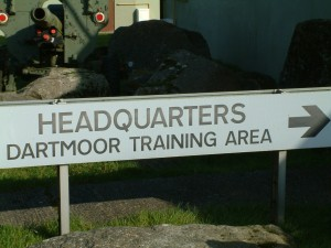 Dartmoor Training Area sign. [Kirsty Williams; Crown Copyright/MOD2014]