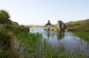 The submerged mill at Frainslake, Castlemartin Training Area [Crown Copyright]