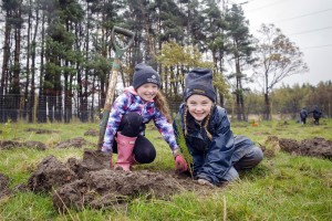 Pupils from local schools helped with the tree planting.