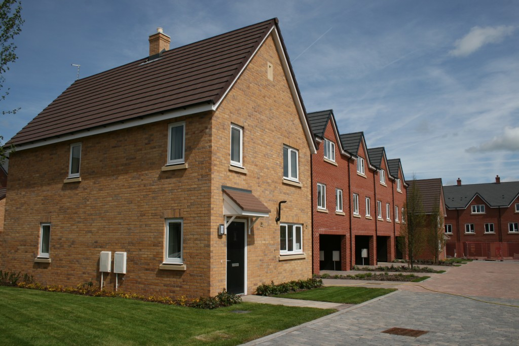 Some of the new family housing at Beacon Barracks. (Helen Pickering, Crown Copyright/MOD2015)