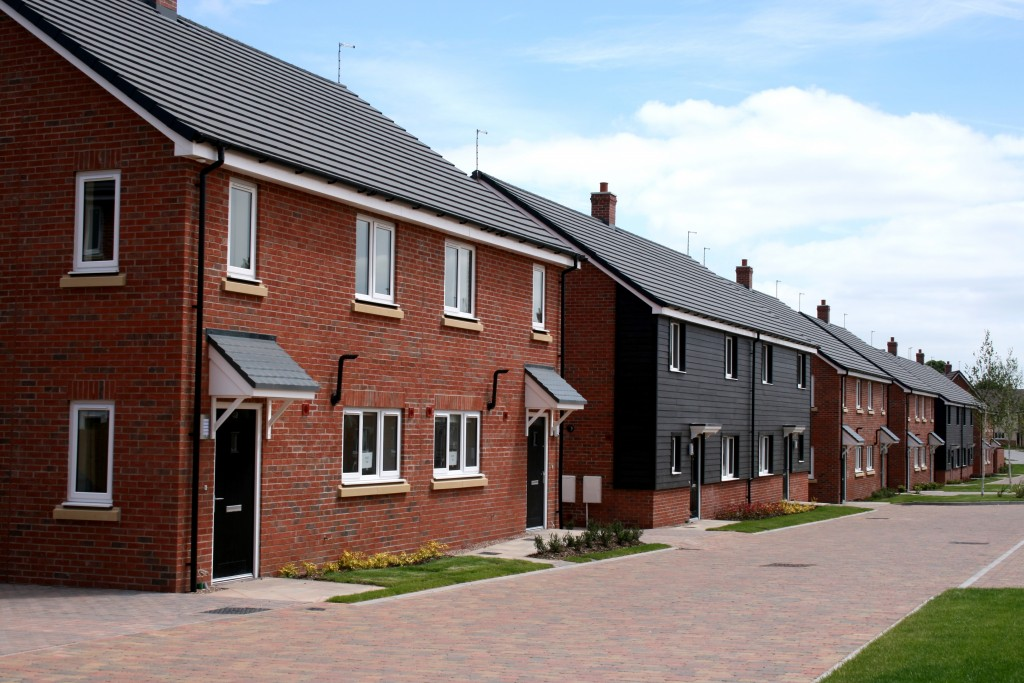 A row of Service Family Accommodation houses