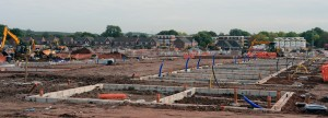 The new homes at Beacon Barracks under construction in September 2014. (Crown Copyright/MOD2014)