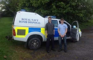 Andrew and Bruce with the Royal Navy's EOD team van.