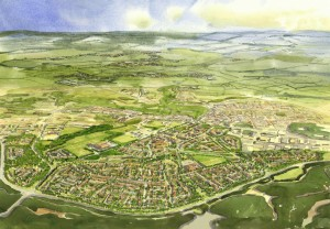 An artist's impression of the Bordon development.