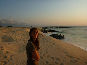Me on Ascension Island watching the sunset, this is one of the many beaches