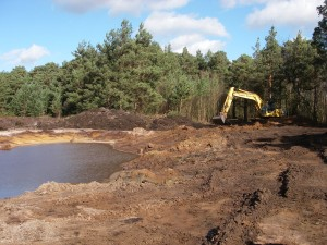 DIO's Training Estate contractors Landmarc were Runners Up in the Environmental Project Award category for their work reducing flooding on a public byway on Elstead Common. [Landmarc]