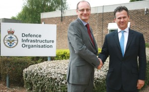 DIO's Chief Executive, David Mitchard, meeting Mark Lancaster TD MP, Parliamentary Under Secretary of State for Defence Personnel and Veterans. [Crown Copyright/MOD2015]