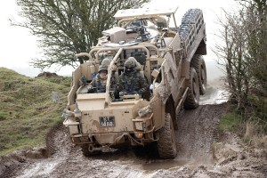 Instructors from the Specialist Training Division are pictured training members of 1st Queens Dragoon Guards to operate the Coyote vehicle during a course at the Defence School of Transport.