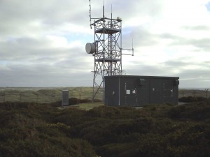 The mast site at Penhale, Cornwall.