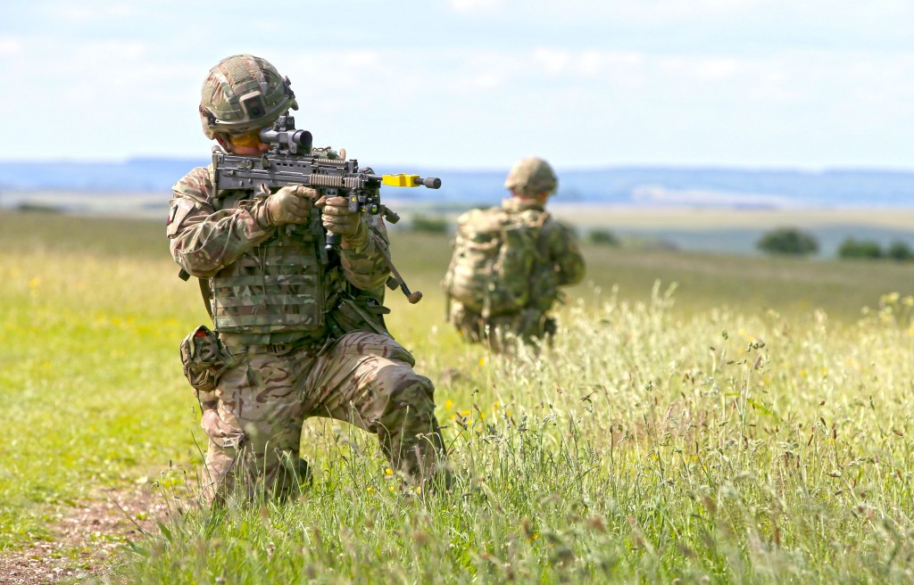 Salisbury Plain is used for a wide variety of training types. [Crown Copyright/MOD2015]