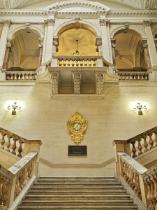 An ornate staircase in Old War Office.