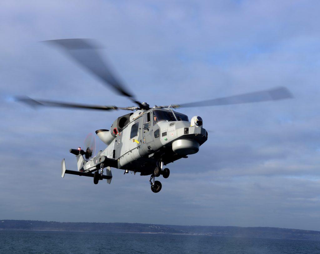 A Royal Navy Wildcat. [Crown Copyright/MOD2013]