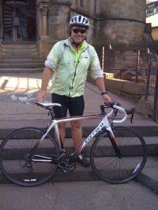 Brian on a cycling trip.