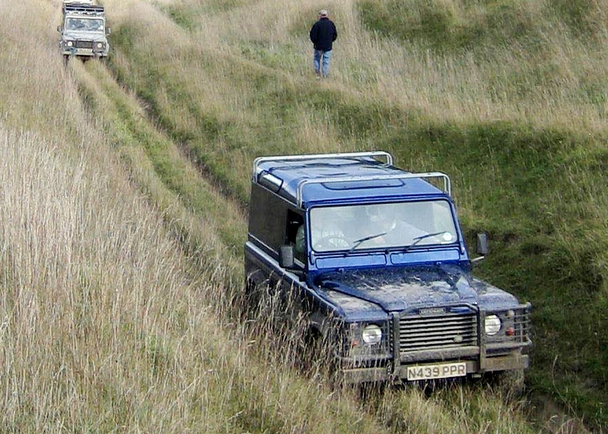 While most off-roaders on Salisbury Plain - including these - obey the law and drive safely and considerately, some do not.