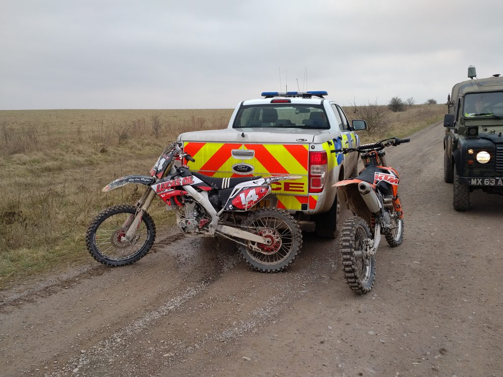 Clamping down on illegal off-roading.