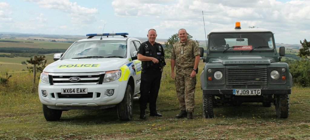 The police and MOD work together to manage public access and combat incursions