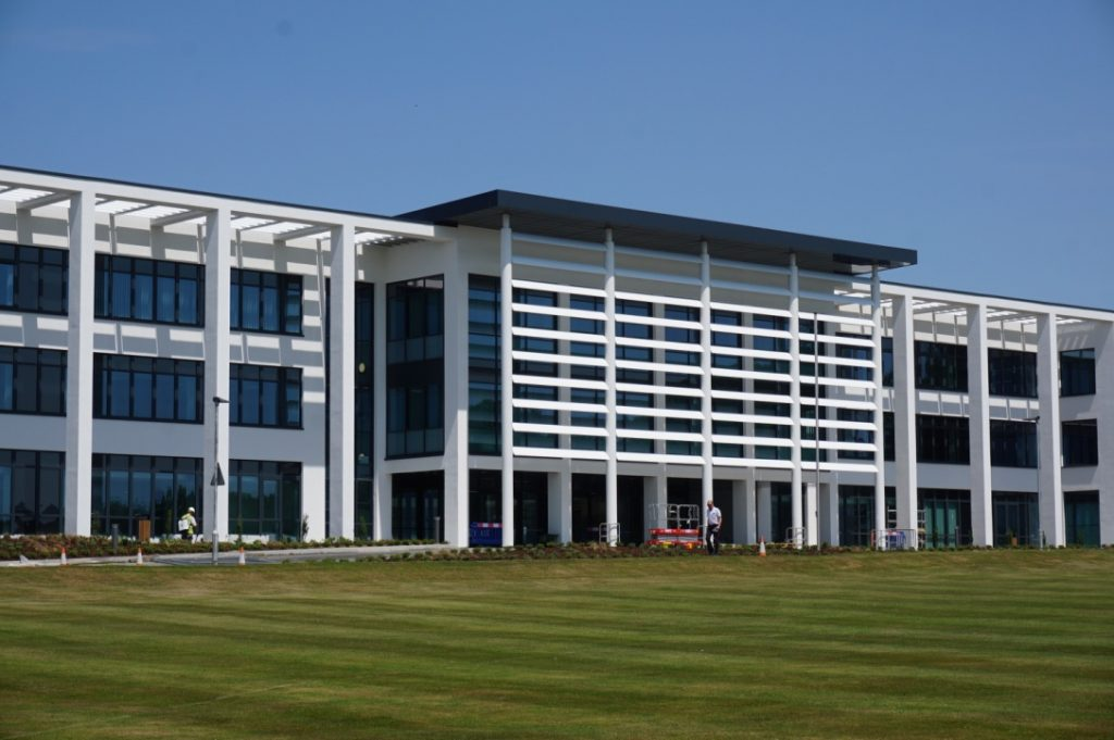 The new flagship college building at Worthy Down
