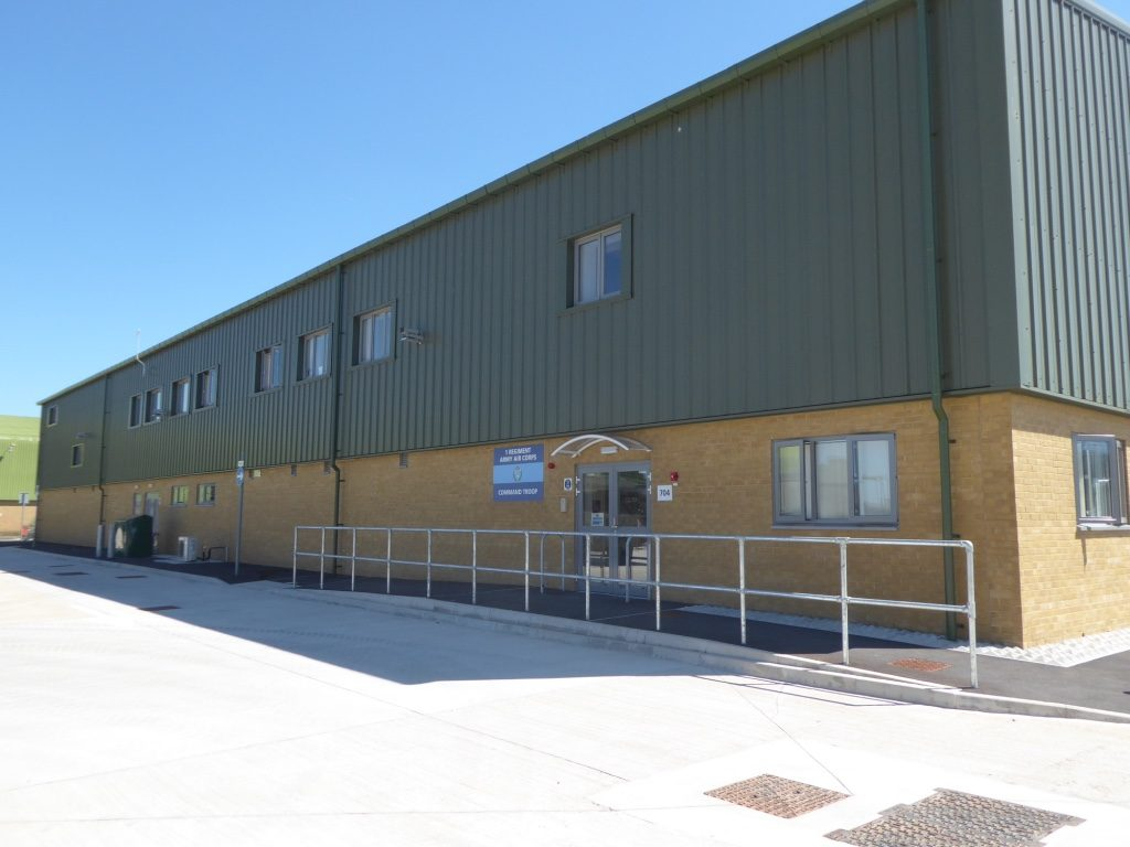 The new 1 Regiment Army Air Corps Command Troop building