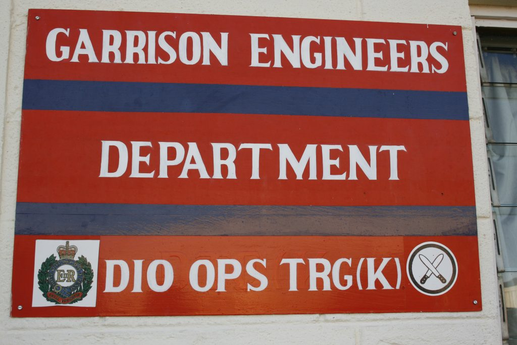 The Garrison Engineers Department at BATUK. [Crown Copyright/MOD 2015]
