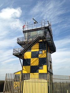 The Air Traffic Control Tower at Pembrey Sands Air Weapons Range. [Crown Copyright/MOD2017]