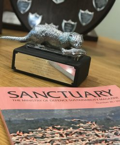 Sanctuary Magazine and Silver Otter Award 2017 [Crown Copyright, MOD 2017]