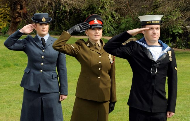 Numbers of women serving in the Royal Air Force, British Army and Royal Navy are increasing. [Crown Copyright/MOD2010]