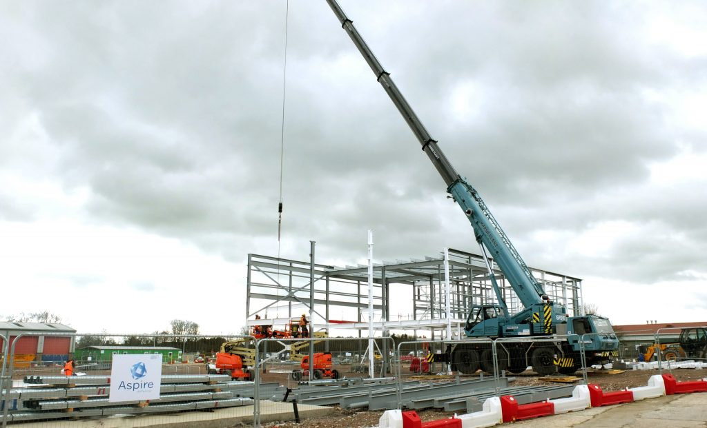 Construction underway at Larkhill. [Aspire]