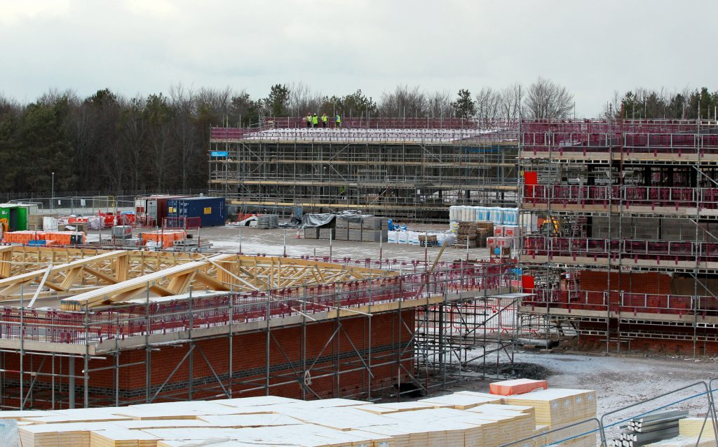 Purvis Lines at Larkhill Garrison under construction. [Aspire Defence]
