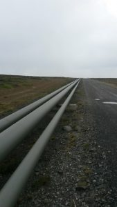 Oil pipeline which runs from Mare Harbour to Mt Pleasant [Crown Copyright, MOD 2016]