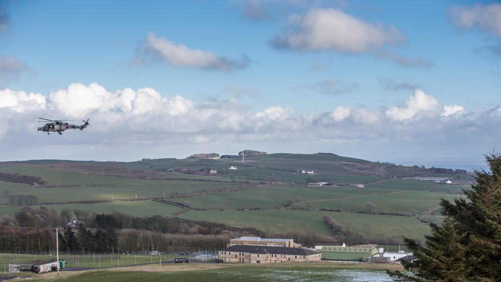 View of the Kirkcudbright Training Area in Scotland