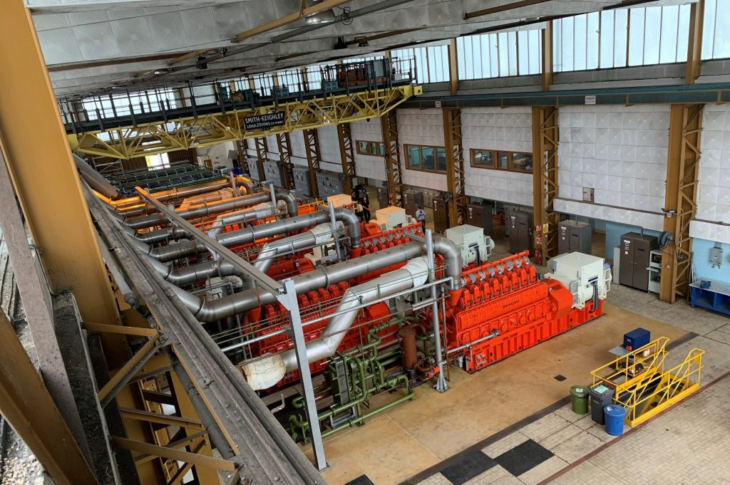 The interior of the power station.