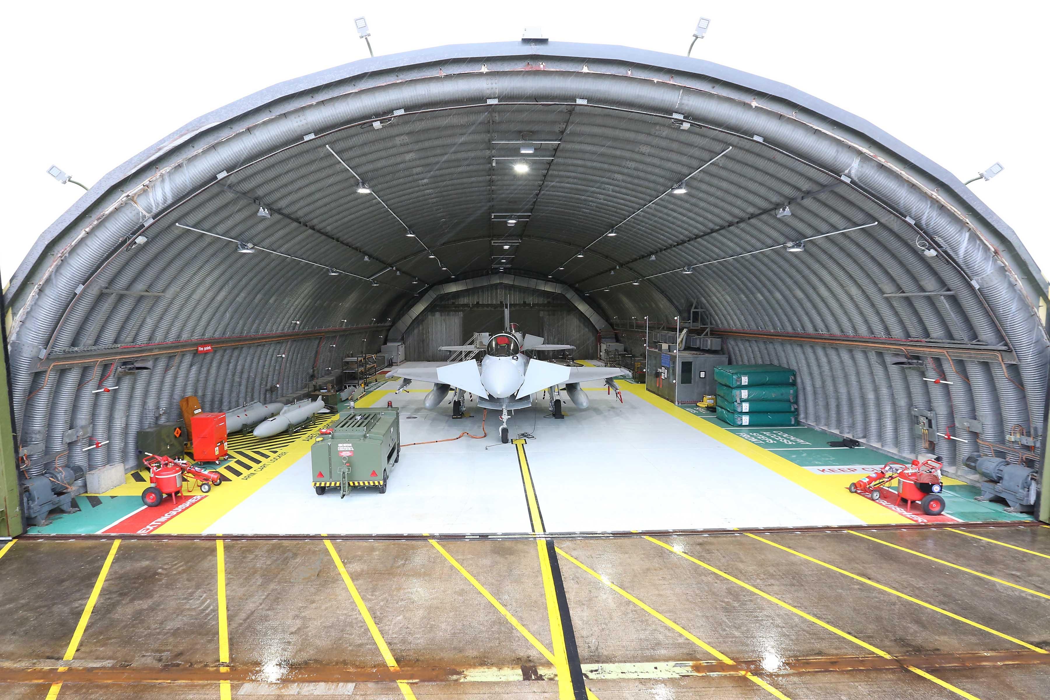 RAF-Lossiemouth-Typhoon-hangar-Hardened-